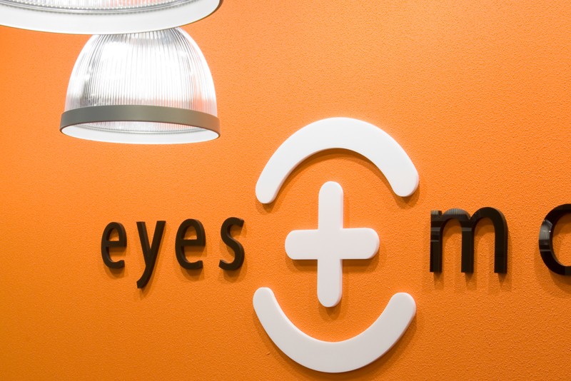 Wandbelettering interieur eyes+more stores