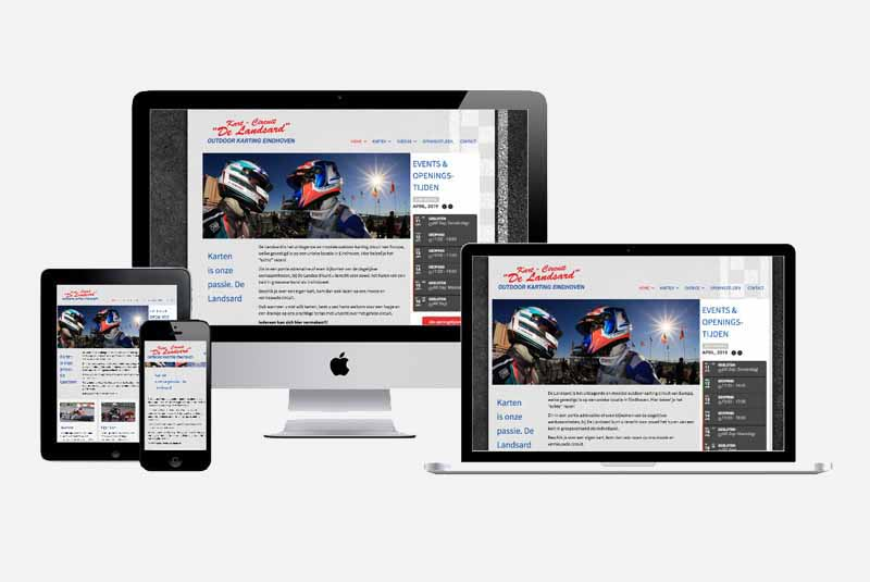 Website De Landsard outdoor karting