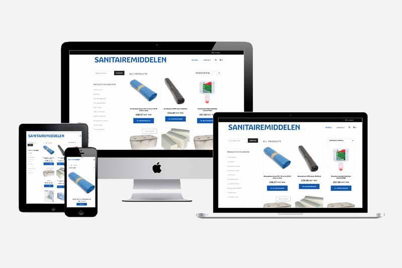 Website Sanitaire middelen