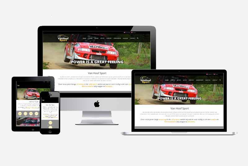Website Van Hoof Sport